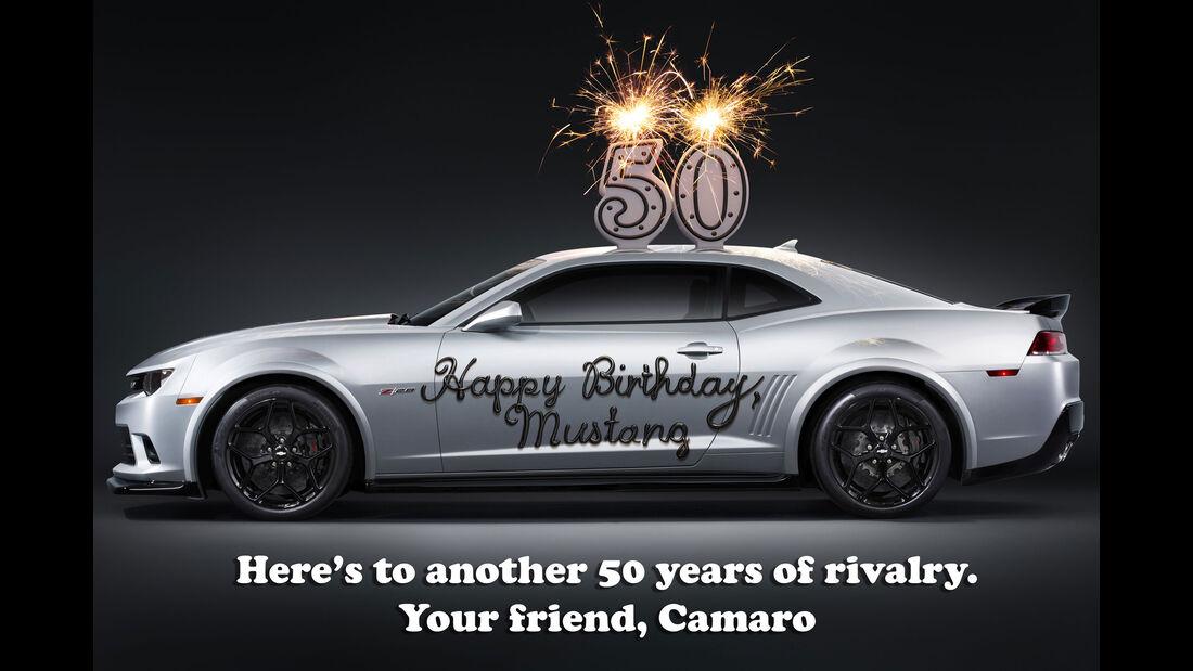 Chevrolet Camaro - Ford Gratulation - Muscle Car - Pony Car
