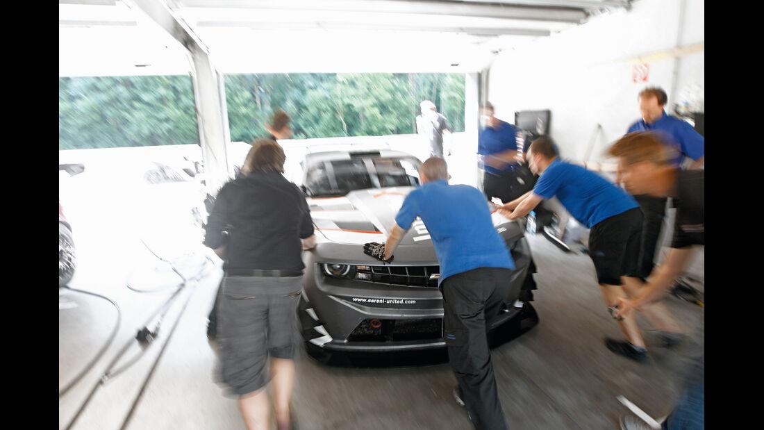 Chevrolet Camaro GT3, Frontansicht, Box