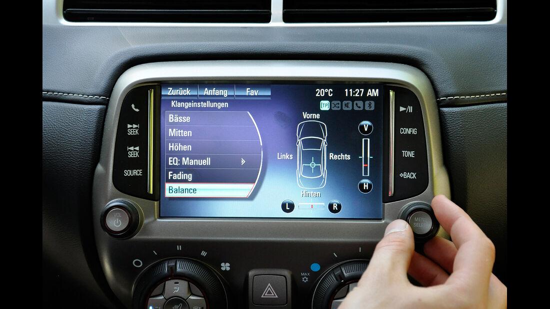 Chevrolet Camaro, Mittelkonsole, Touchscreen
