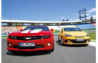 Chevrolet Camaro, Opel Astra OPC, Frontansicht