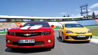 Chevrolet Camaro, Opel Astra OPC, Heckleuchten