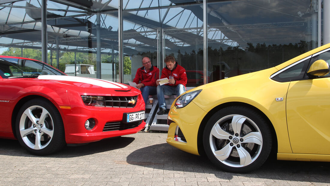 Chevrolet Camaro, Opel Astra OPC, Schnauze