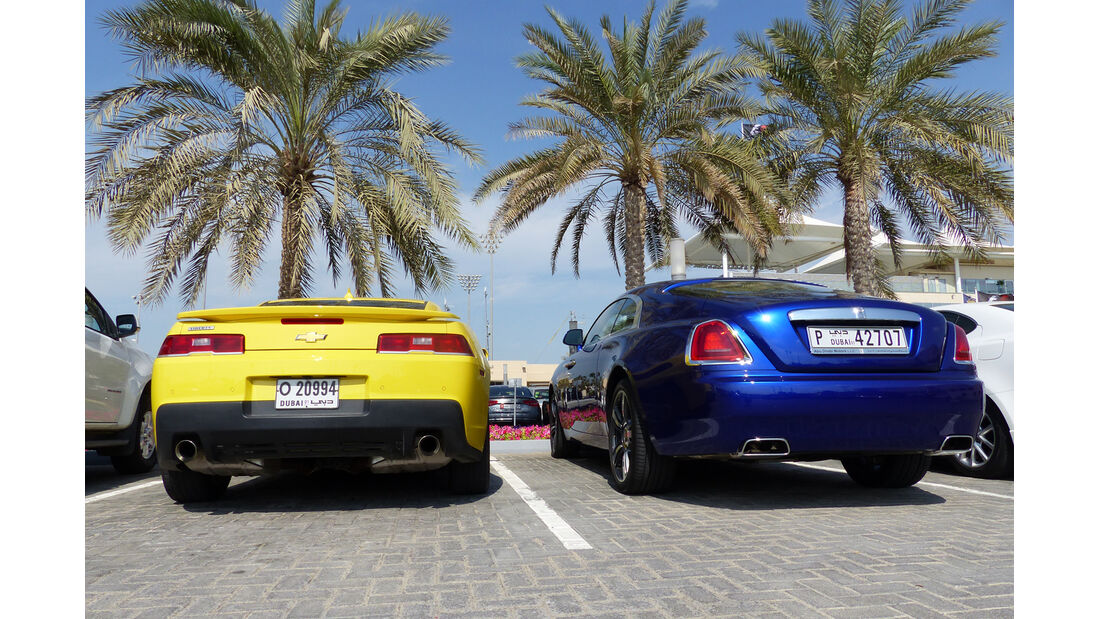Chevrolet Camaro & Rolls Royce Wraith - F1 Abu Dhabi 2014 - Carspotting