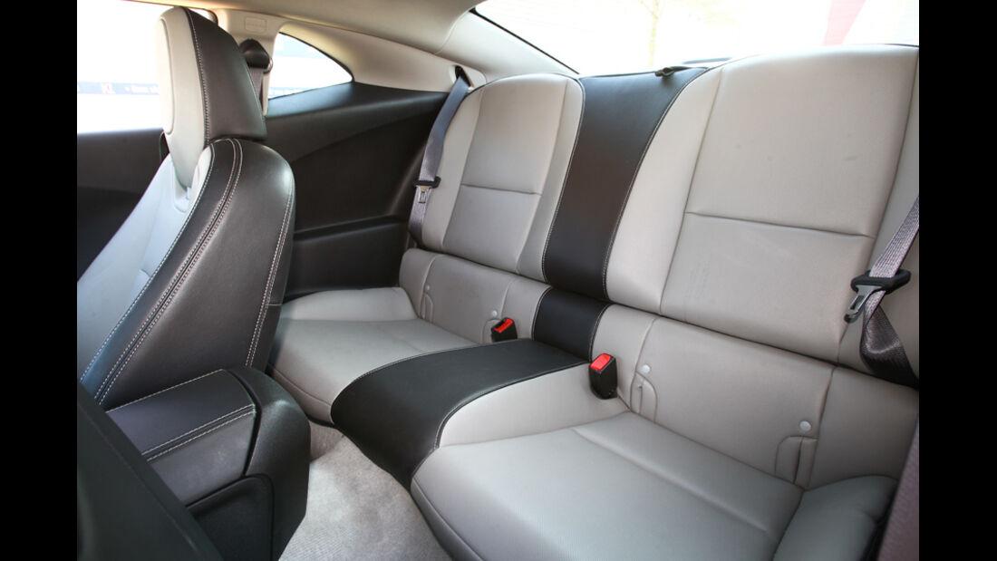 Chevrolet Camaro, Rücksitzbank