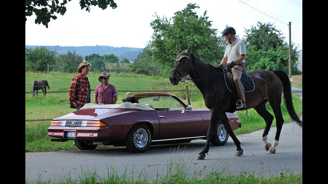 Chevrolet Camaro, Seitenansicht, Pferd