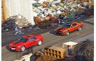 Chevrolet Camaro ZL1, Dodge Challenger SRT8 392, von oben