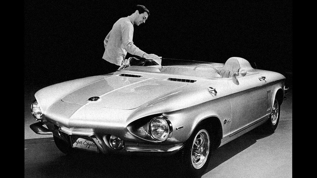 Chevrolet Corvair Monza Spyder, Seitenansicht