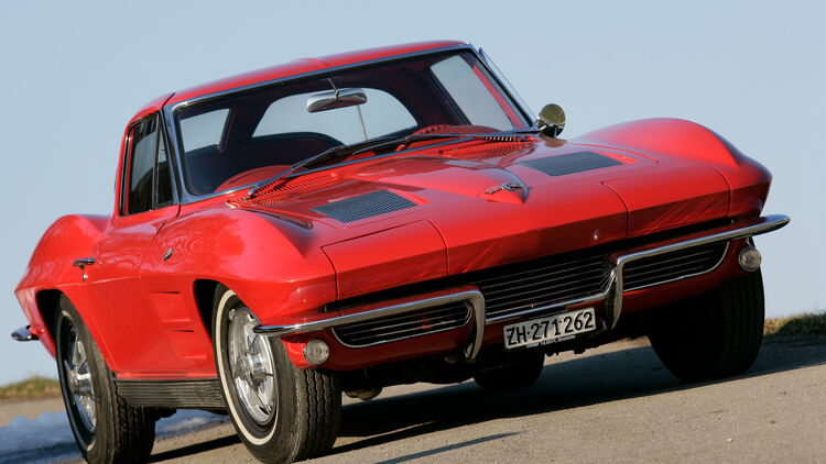Oldtimer Sportwagen Chevrolet Corvette C2 Günstiger V8 Ami Auto Motor Und Sport