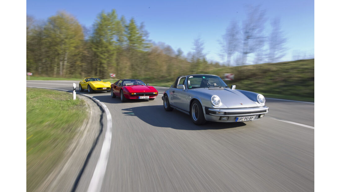 Chevrolet Corvette C3, Ferrari 308 GTSi, Porsche 911 Carrera Targa