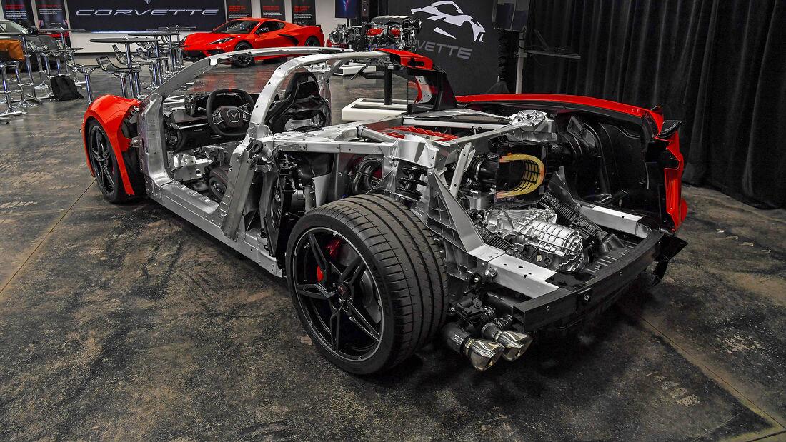 Chevrolet Corvette C8 Sting Ray, ohne Karosserie