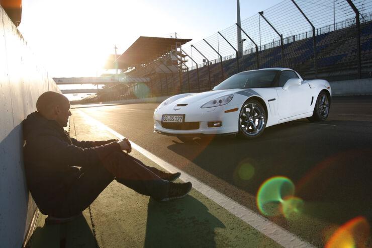 Chevrolet Corvette Grand Sport, Abendsonne, Frontansicht