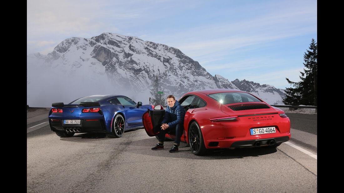 Chevrolet Corvette Grand Sport, Porsche 911 Carrera GTS, Christian Gebhardt
