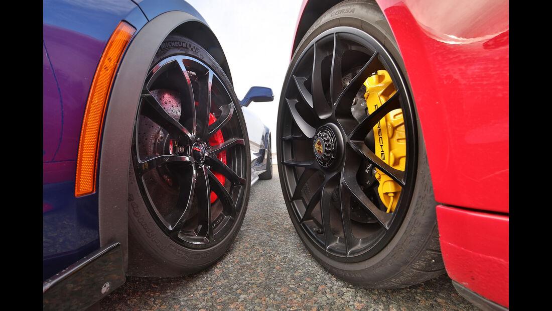 Chevrolet Corvette Grand Sport, Porsche 911 Carrera GTS, Felgen