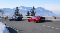 Chevrolet Corvette Grand Sport, Porsche 911 Carrera GTS, Heckansicht