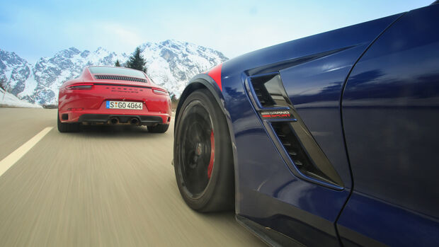 Chevrolet Corvette Grand Sport, Porsche 911 Carrera GTS, Impression