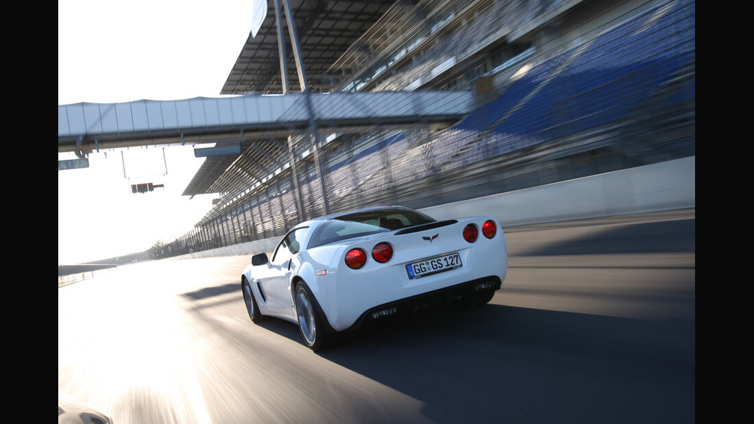 Chevrolet Corvette Grand Sport, Rennstrecke, Heck