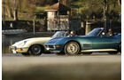 Chevrolet Corvette Stingray Convertible und Jaguar 4.2 Litre E-Type Convertible