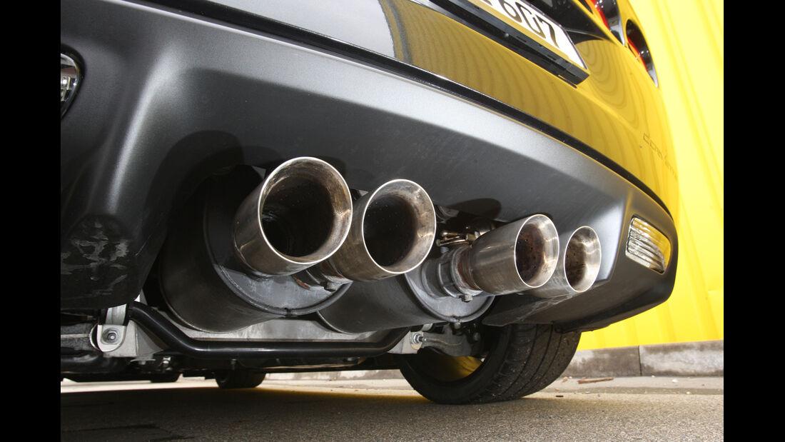 Chevrolet Corvette Z06, Auspuff, Endrohre