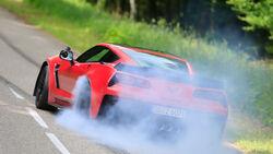 Chevrolet Corvette Z06, Burnout