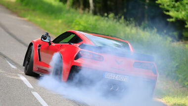 Chevrolet Corvette Z06, Burnout