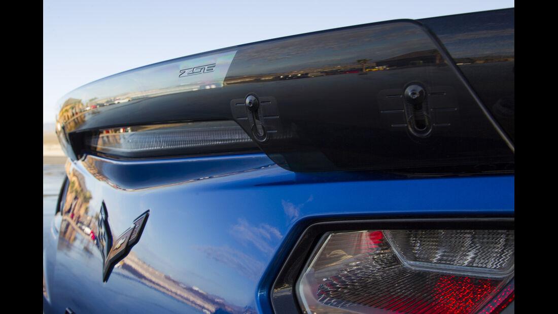 Chevrolet Corvette Z06, Fahrbericht, Rücklicht