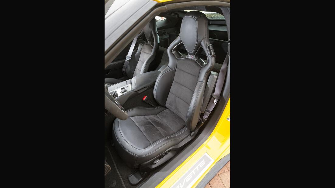 Chevrolet Corvette Z06, Fahrersitz