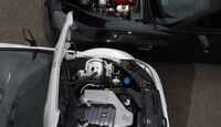 Chevrolet Corvette Z06, Mercedes C 63 AMG Black Series, Motorhaube, offen
