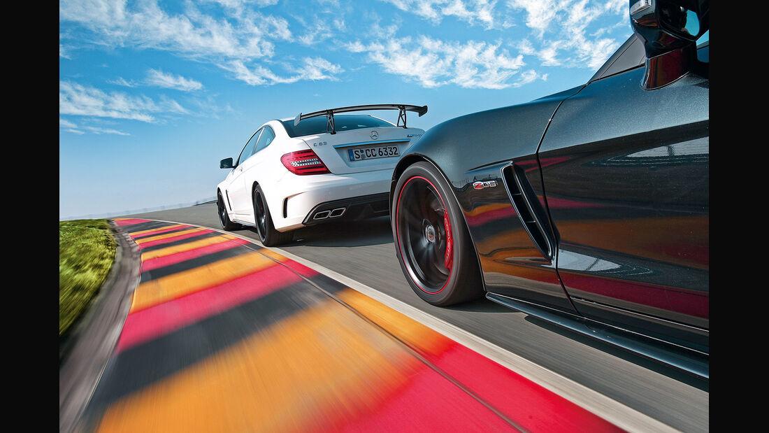 Chevrolet Corvette Z06, Mercedes C 63 AMG Black Series, Seitenlinie