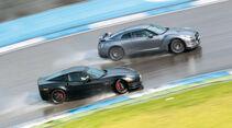 Chevrolet Corvette Z06, Nissan GT-R, Seitenansicht, Driften