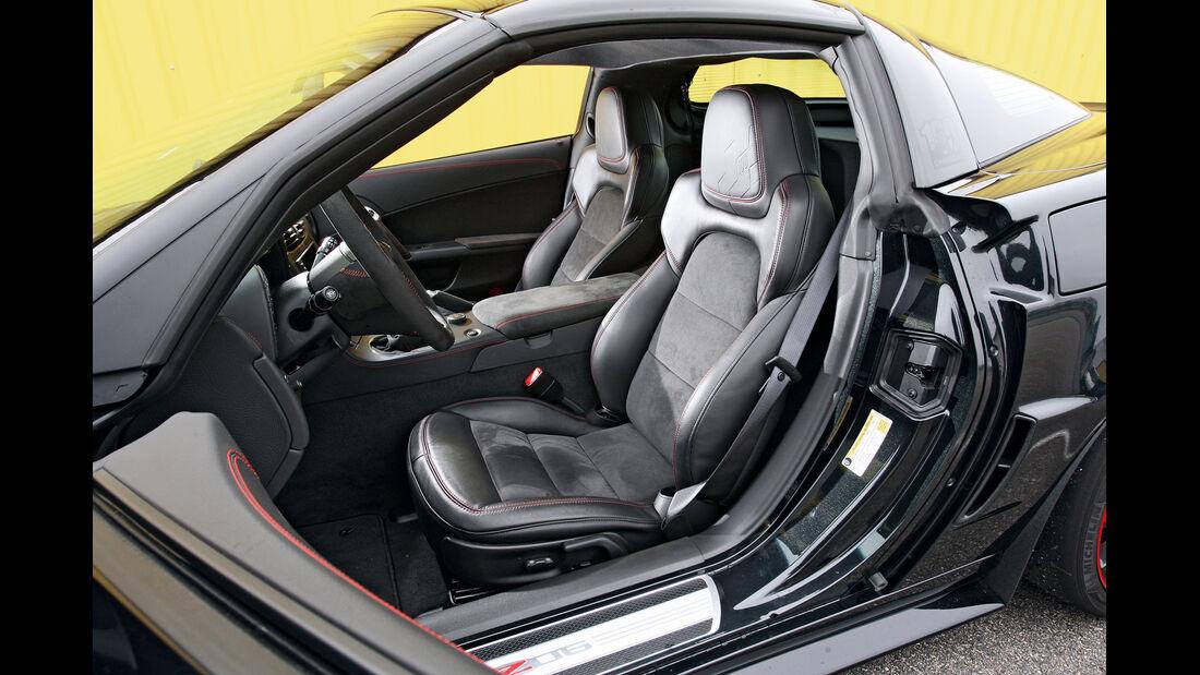 Chevrolet Corvette Z06, Vordersitz, Fahrersitz