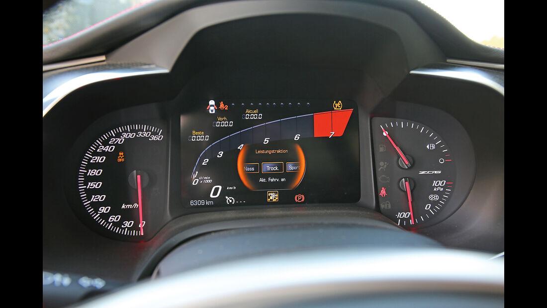 Chevrolet Corvette Z06 Z07 Performance, Anzeigeinstrumente