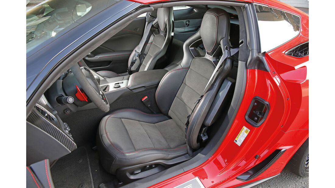 Chevrolet Corvette Z06 Z07 Performance, Fahrersitz