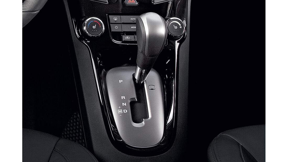 Chevrolet Orlando, Innenraum, Schaltung