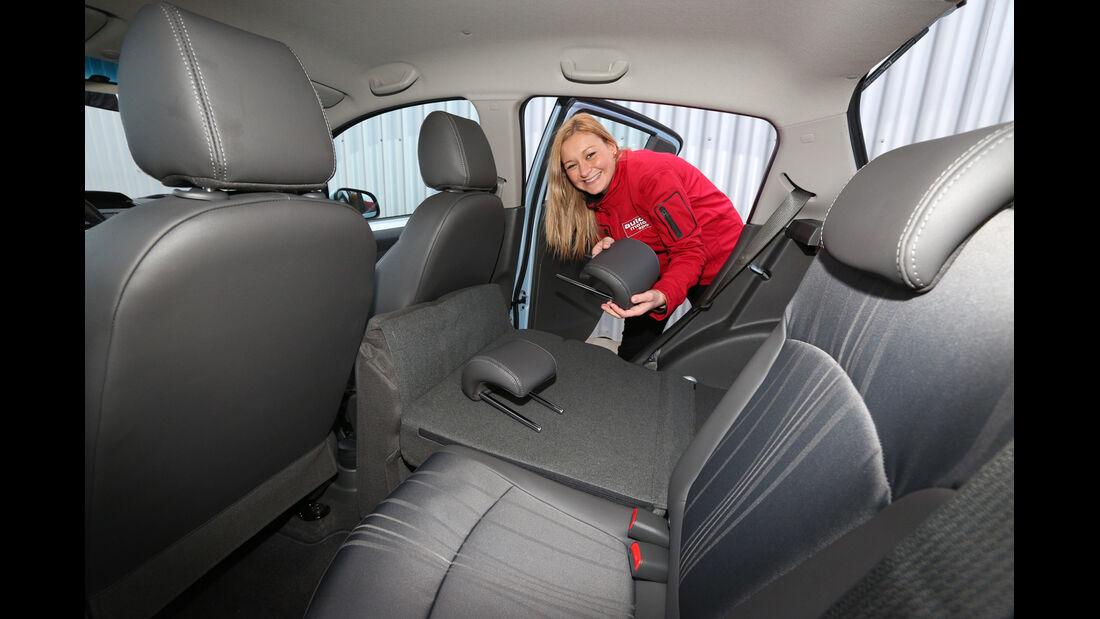Chevrolet Spark 1.2 LTZ, Fondistz, Umklappen