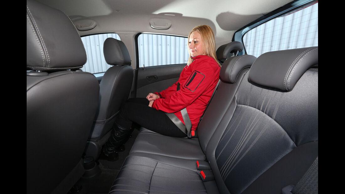 Chevrolet Spark 1.2 LTZ, Fondsitz, Beinfreiheit