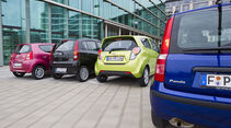 Chevrolet Spark, Daihatsu Cuore, Fiat Panda, Suzuki Alto