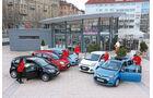 Chevrolet Spark, Fiat Panda, Hyunda i i10, Renault Twingo, VW Up, Testwagen