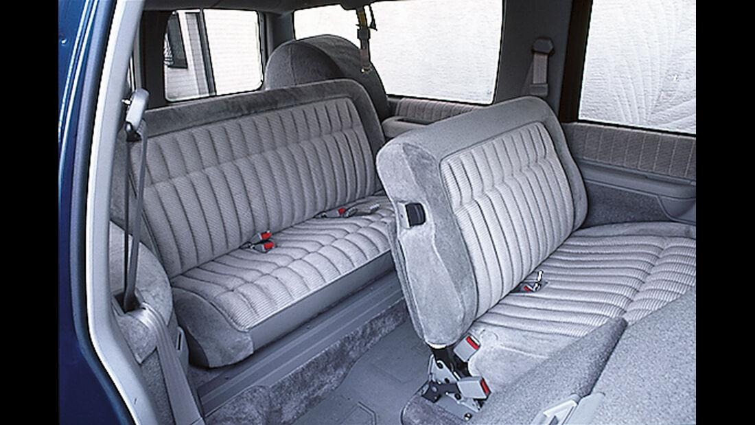 Chevrolet Suburban, Sitze, Interieur