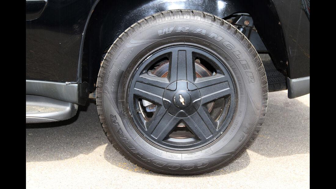 Chevrolet Trailblazer, Rad, Felge