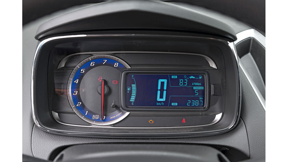 Chevrolet Trax 1.4 Turbo AWD, Rundinstrumente