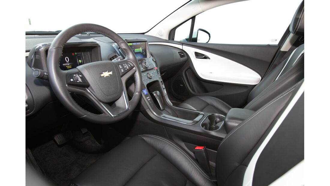 Chevrolet Volt, Elektroauto, Cockpit, Benzinmotor