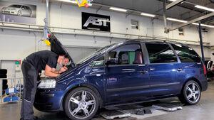 Chiptuning, VW Sharan, Motorhaube, Werkstatt