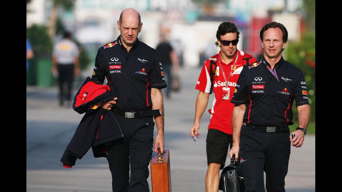 Christian Horner & Adrian Newey - Red Bull - GP Malaysia - Training - 23. März 2012