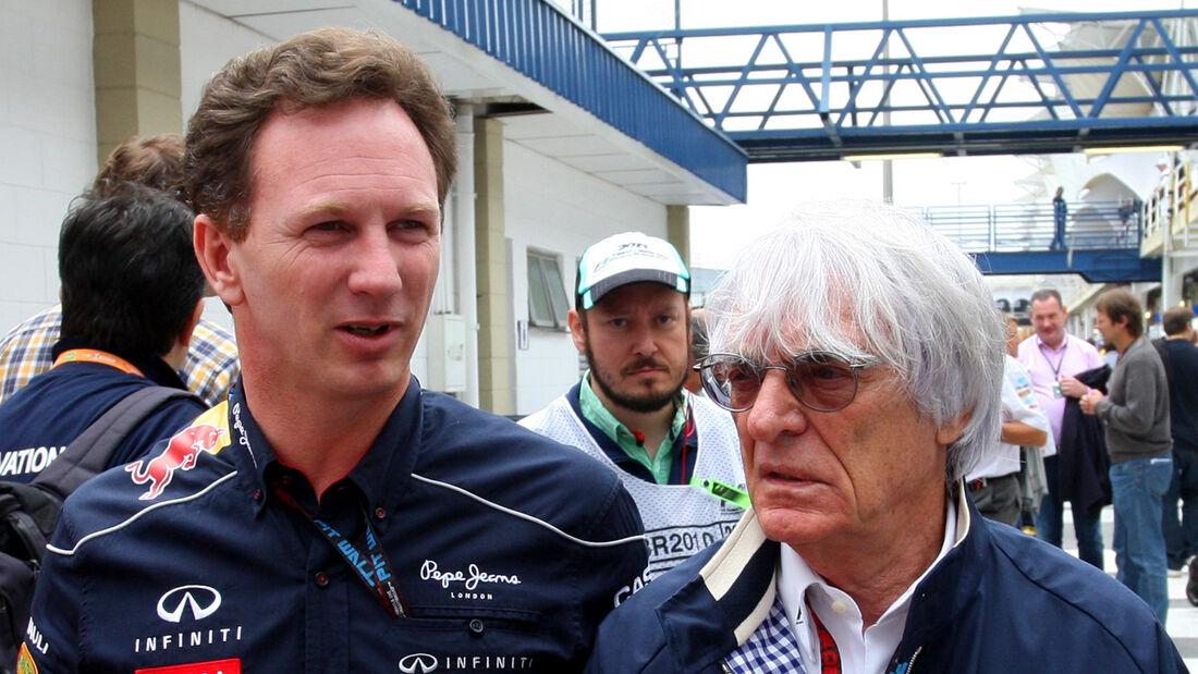 Christian Horner & Bernie Ecclestone - Formel 1
