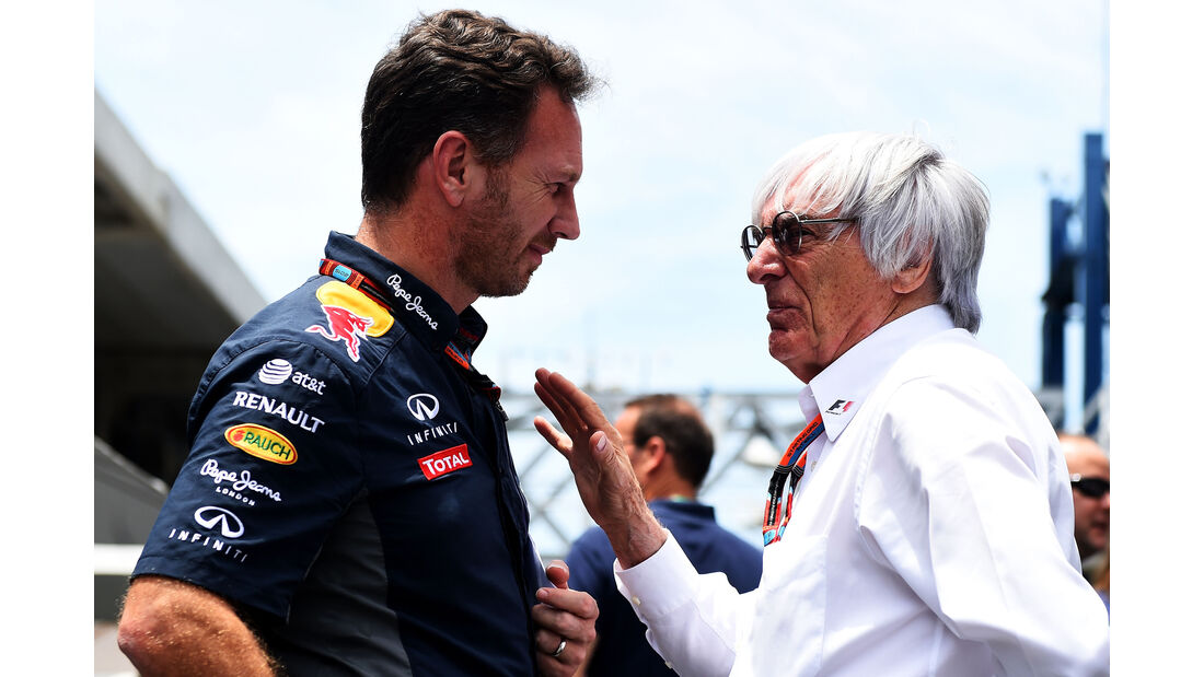Christian Horner - Bernie Ecclestone - Formel 1 - GP Brasilien- 14. November 2015