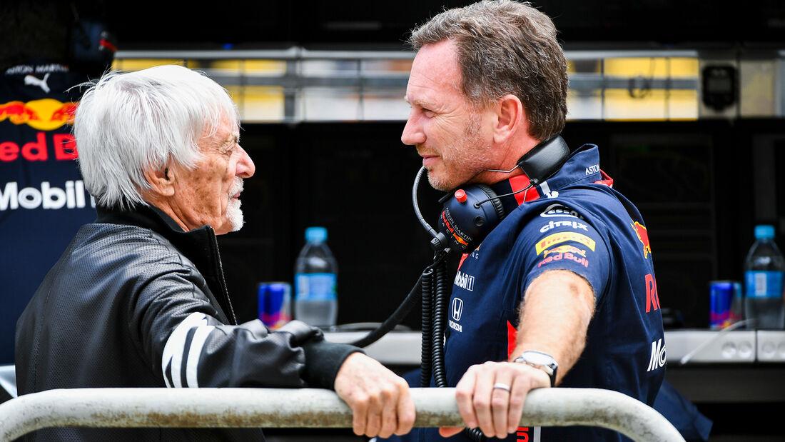 Christian Horner & Bernie Ecclestone - Formel 1 - GP Brasilien - Sao Paulo - 16. November 2019