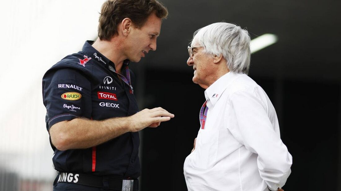 Christian Horner Bernie Ecclestone - Formel 1 - GP Indien - 27. Oktober 2012