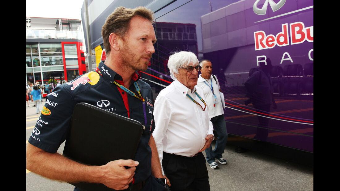 Christian Horner & Bernie Ecclestone - Formel 1 - GP Italien - 5. September 2014