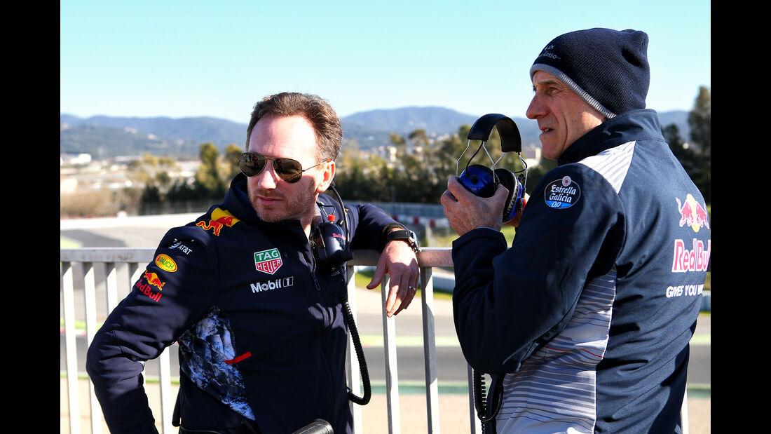Christian Horner & Franz Tost - Formel 1 - Test - Barcelona - 1. März 2017