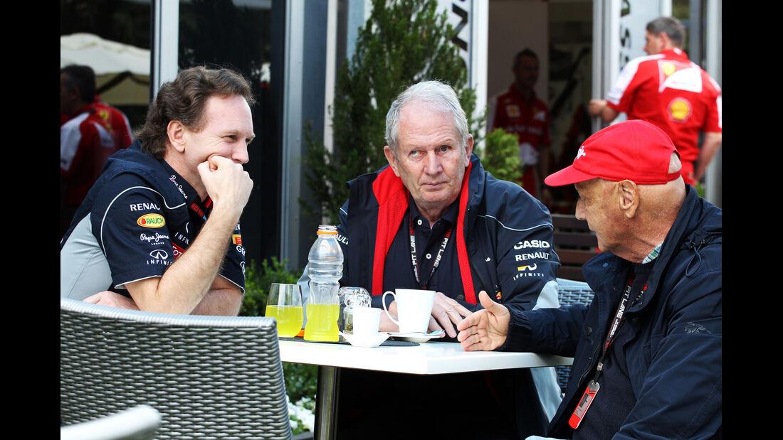 Christian Horner, Helmut Marko & Niki Lauda - Formel 1 - GP Australien - 15. März 2013
